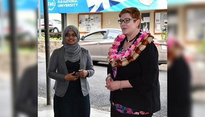 Escorting Aussie Minister Empowers Student